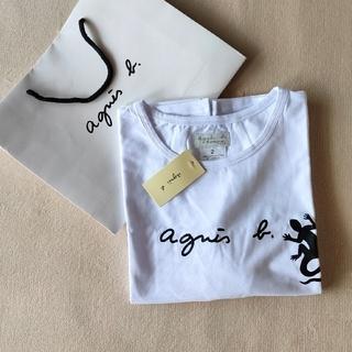 アニエスベー(agnes b.)の少し訳あり☆新品☆アニエスベー レザール  Tシャツ 男女兼用 Lサイズ(Tシャツ/カットソー(半袖/袖なし))