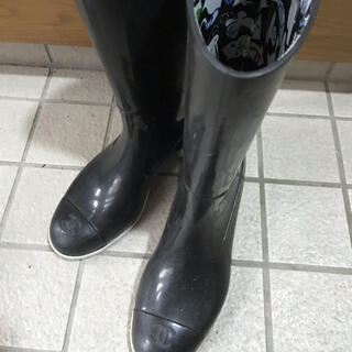 シャネル(CHANEL)のシャネル 長靴 レインブーツ 36  22.5cm(レインブーツ/長靴)