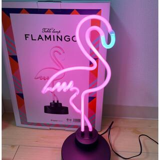 フランフラン(Francfranc)のフラミンゴネオン テーブルランプ ピンク(テーブルスタンド)