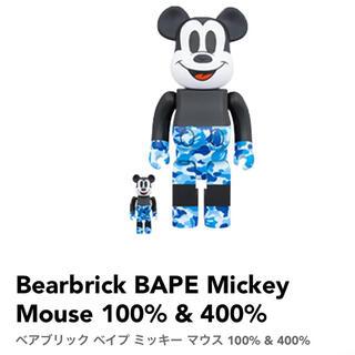 メディコムトイ(MEDICOM TOY)のBE@RBRICK BAPE(R)MICKEY MOUSE100% & 400%(その他)