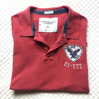 "American Eagle - 🦅AEO ""AE 01-977"";【美品】ポロシャツ(半袖) Size L"