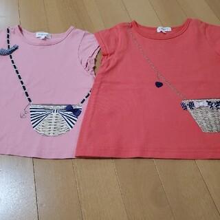 サンカンシオン(3can4on)のショルダーバック柄プリントT(Tシャツ/カットソー)
