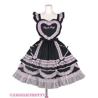 アンジェリックプリティー(Angelic Pretty)のHeart胸あて付スカート(無地)+カチューシャ(セット/コーデ)
