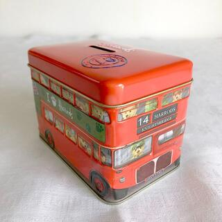 Harrods - ハロッズ チョコ缶 ロンドンバス 貯金箱  Harrods LondonBus
