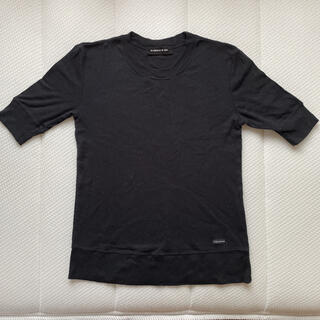 アズノウアズ(AS KNOW AS)のUネック Tシャツ 黒 シンプル(Tシャツ(半袖/袖なし))