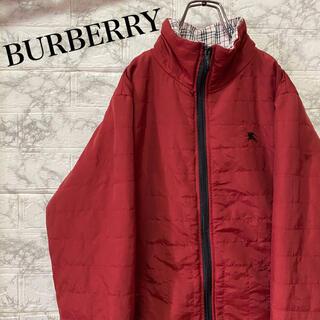 BURBERRY - バーバリーロンドン 中綿ジャケット ワンポイント刺繍ロゴ ノバチェック