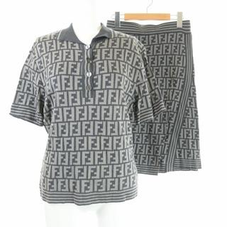 フェンディ(FENDI)のフェンディ セットアップ 上下 タイトスカート ズッカ柄 ポロシャツ ニット  (ポロシャツ)