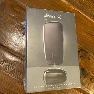 プルームテック(PloomTECH)のploom x スターターキット グレー 新品 プルームx(タバコグッズ)