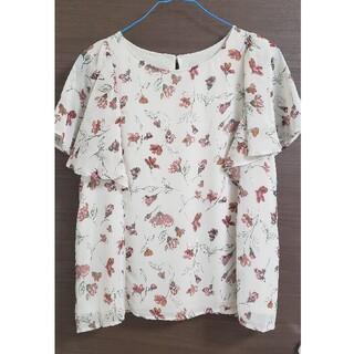 ヴィス(ViS)のVis 花柄シフォントップス 半袖(Tシャツ(半袖/袖なし))