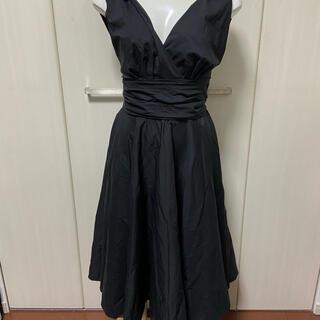 マテリアルガール(MaterialGirl)のMATERIAL GIRL マテリアルガール  ワンピース 肩リボン ブラック(ひざ丈ワンピース)