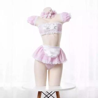 ゆめかわ シュガーハニー メイド セクシー コスプレ ピンク(衣装一式)