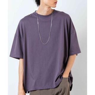 ウィゴー(WEGO)のWEGO バルーンビッグシルエットTシャツ M パープル(Tシャツ/カットソー(半袖/袖なし))