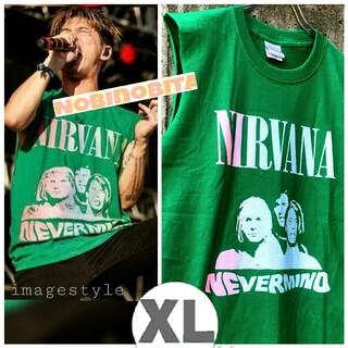 ワンオクロック(ONE OK ROCK)のXL入荷 ! nirvana 緑 nevermind T(Tシャツ/カットソー(半袖/袖なし))