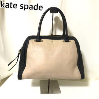 ケイトスペードニューヨーク(kate spade new york)のkate spade ハンドバッグ ベージュ ブラック バイカラー 黒(ハンドバッグ)