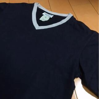 アニエスベー(agnes b.)のアニエスベーブラック✖️グレーコットンVネックT(Tシャツ/カットソー(半袖/袖なし))