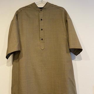 Scye - Scye ガンクラブチェック ロングシャツドレス