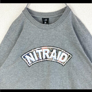 ナイトレイド(nitraid)のnitraid ナイトレイド Tシャツ グレー ロゴ クレイジーサバンナ M(Tシャツ/カットソー(半袖/袖なし))