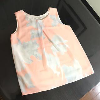 レディー(Rady)の美品 ノースリーブ トップス ミスティフラワー 花柄 オレンジ(Tシャツ(半袖/袖なし))