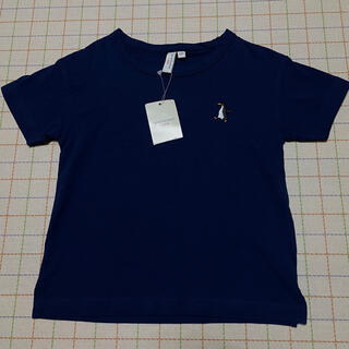サマンサモスモス(SM2)のSM2 新品 Tシャツ ペンギン 刺繍 紺色 ネイビー 100(Tシャツ/カットソー)
