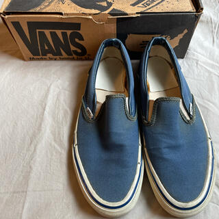 ヴァンズ(VANS)の80s 推定9 VANS Made in USA SLIP ON Navy 単色(スニーカー)