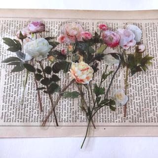 海外 押し花 シール ピンク 10枚入り(印刷物)