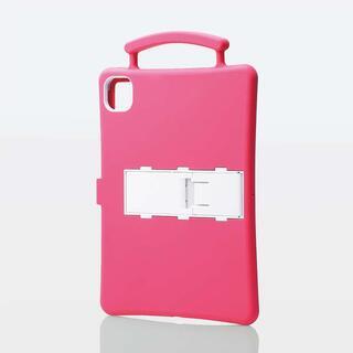 エレコム(ELECOM)のiPad Pro 11インチ用抗菌耐衝撃シリコンケース ピンク(タブレット)
