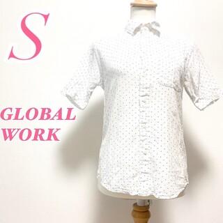グローバルワーク(GLOBAL WORK)のGLOBAL WORK グローバルワーク 半袖 ブラウス ドット ホワイト(シャツ/ブラウス(半袖/袖なし))