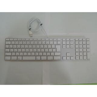 アップル(Apple)のApple A1243 10Key付き日本語USBキーボード きれいに使用(PCパーツ)