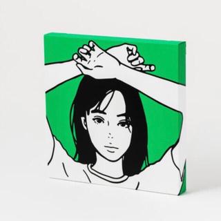 本物 KYNE キャンバスにシルクスクリーン ED100(版画)