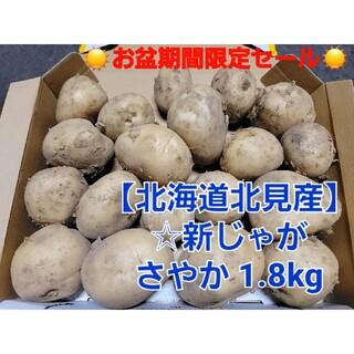 北海道 北見産 新 じゃがいも さやか  1.8kg ◎農家直送(野菜)
