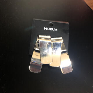 ムルーア(MURUA)の新品 ムルーア メタルツイストプレートピアス ザラ エモダ ジーナシス(ピアス)