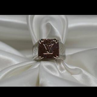 ルイヴィトン(LOUIS VUITTON)のLOUIS VITTON ルイヴィトン シグネット 指輪 M62487 メンズ(リング(指輪))