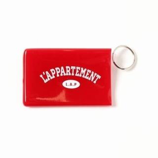 アパルトモンドゥーズィエムクラス(L'Appartement DEUXIEME CLASSE)のアパルトモン Quiky Card Holder W/Keyring レッド(キーホルダー)