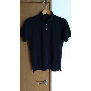 ムジルシリョウヒン(MUJI (無印良品))の名作モデル「ボタンダウン半袖ポロシャツ」 BLACK 黒 Sサイズ(ポロシャツ)