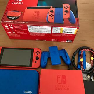 ニンテンドースイッチ(Nintendo Switch)のNintendo Switch マリオ レッド×ブルー 本体セット 中古動作品(携帯用ゲーム機本体)