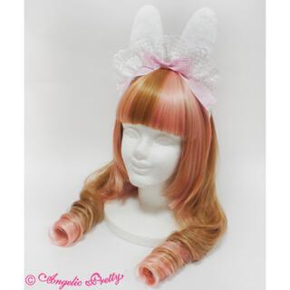 アンジェリックプリティー(Angelic Pretty)の新品タグ付♡アンジェリックプリティRibbon Bunny Cafeカチューシャ(カチューシャ)