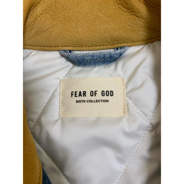 FEAR OF GOD(フィアオブゴッド)のデニムワークジャケット トラッカージャケット fear of god 6th メンズのジャケット/アウター(Gジャン/デニムジャケット)の商品写真