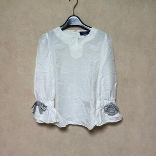 エムズグレイシー(M'S GRACY)のエムズグレイシー   綿と麻の長袖トップス(シャツ/ブラウス(長袖/七分))