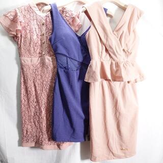 デイジーストア(dazzy store)のDAZZY STORE ドレス レディース ピンク/ブルー(ミディアムドレス)