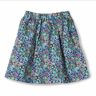 ブランシェス(Branshes)の新品 ブランシェス ボタニカル柄 スカート 花柄 ブルー 90センチ(スカート)