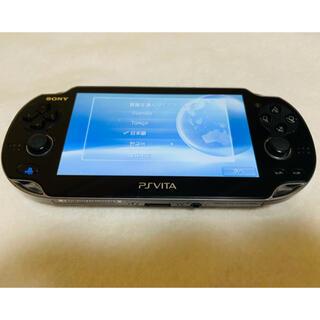 プレイステーションヴィータ(PlayStation Vita)のPS Vita PCH-1000 ZA01 クリスタルブラック 動作確認済み(家庭用ゲーム機本体)