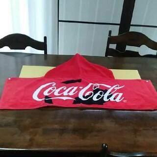 コカコーラ(コカ・コーラ)の【Coca-Cola】フード付きタオル(タオル/バス用品)
