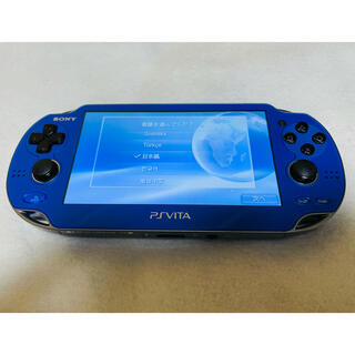 プレイステーションヴィータ(PlayStation Vita)の☆美品☆PSVita PCH-1000 ZA04 サファイアブルー(家庭用ゲーム機本体)