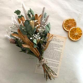 botanical swag♡ボタニカル、秋ユーカリ、チガヤ、かすみ草、スワッグ(ドライフラワー)