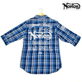 ノートン(Norton)のノートン Norton チェックシャツ ネルシャツ 七分袖(シャツ)
