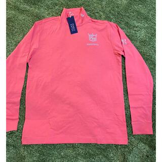 パーリーゲイツ(PEARLY GATES)の新品Pearly gates パーリーゲイツ ハイネックシャツ5 XL ピンク(ウエア)