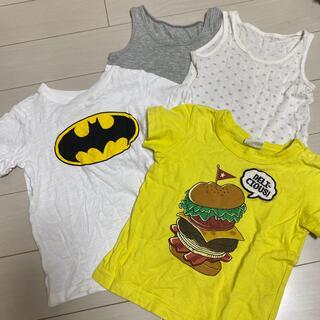 ユニクロ(UNIQLO)の90 Tシャツ2枚とシャツ2枚セット(Tシャツ/カットソー)