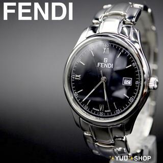フェンディ(FENDI)の人気【電池新品】FENDI 210G デイト ブラック メンズ 腕時計 付属品(腕時計(アナログ))