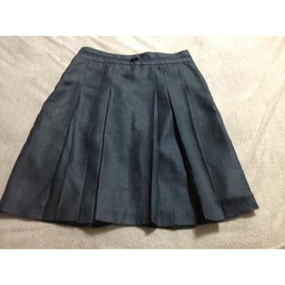 プーラフリーム(pour la frime)の濃いグレーのスカート(ひざ丈スカート)