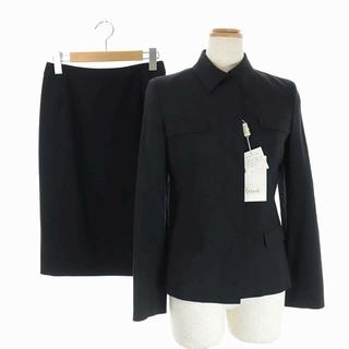 ハロッズ(Harrods)のハロッズ セットアップ スーツ ジャケット スカート ミモレ丈 1 2 ネイビー(スーツ)